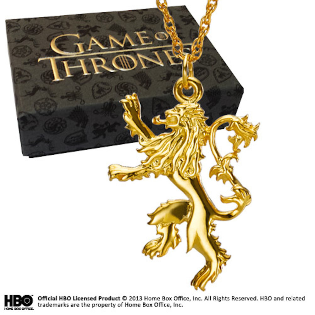 Gold Plated Sterling Silver Lannister Pendant