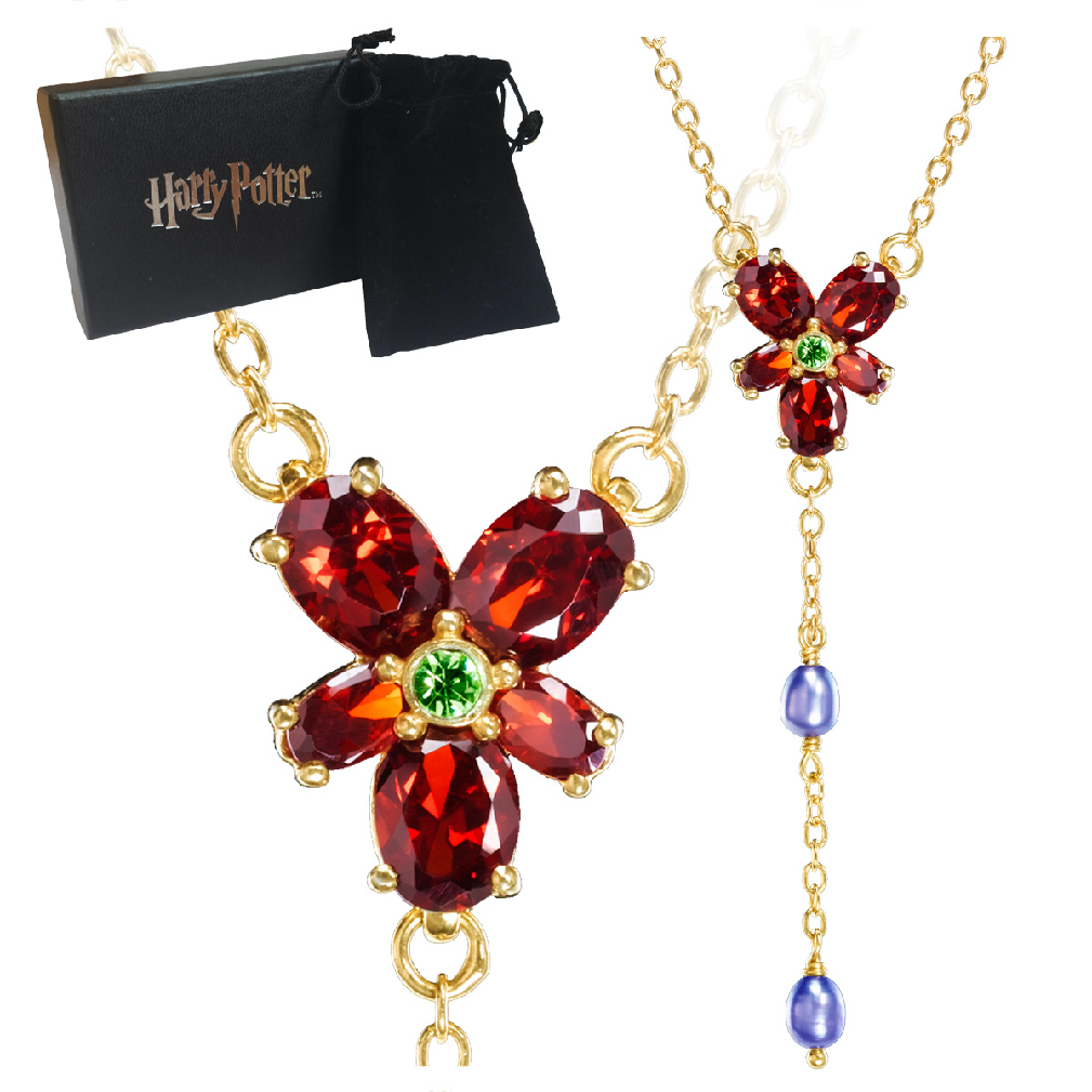 Hermione Red Crystal Necklace (Cos)(2)