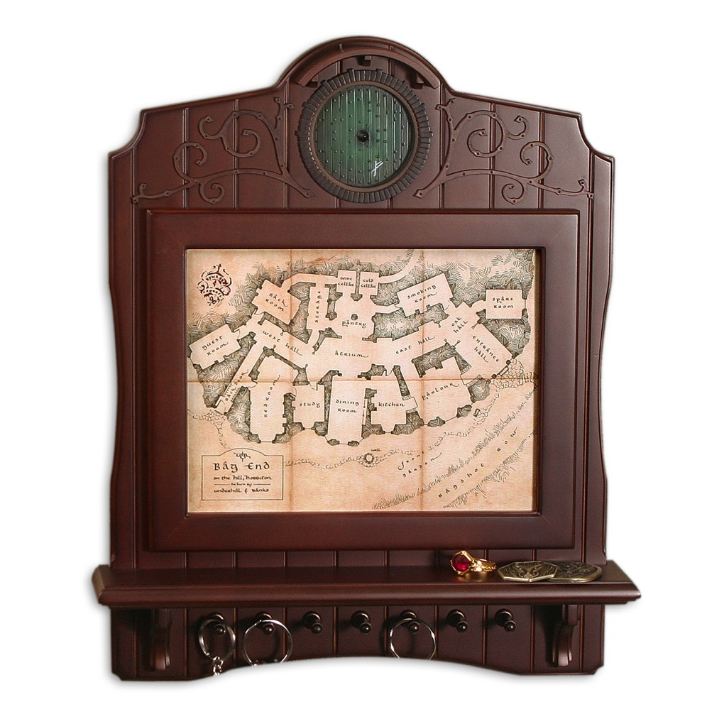 The Hobbit - Bag End Map Plaque Key Holder