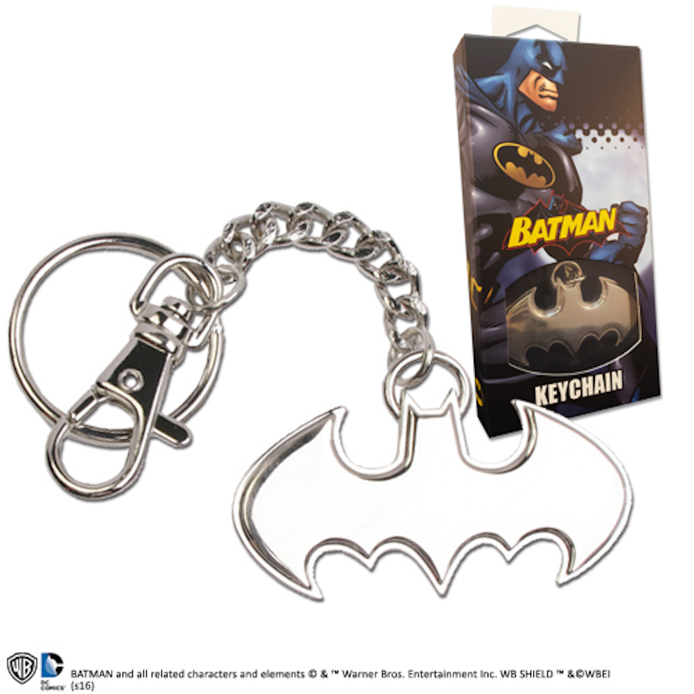 Batman 5.5cm Shaped Logo Keychain Stainless Steel (9)