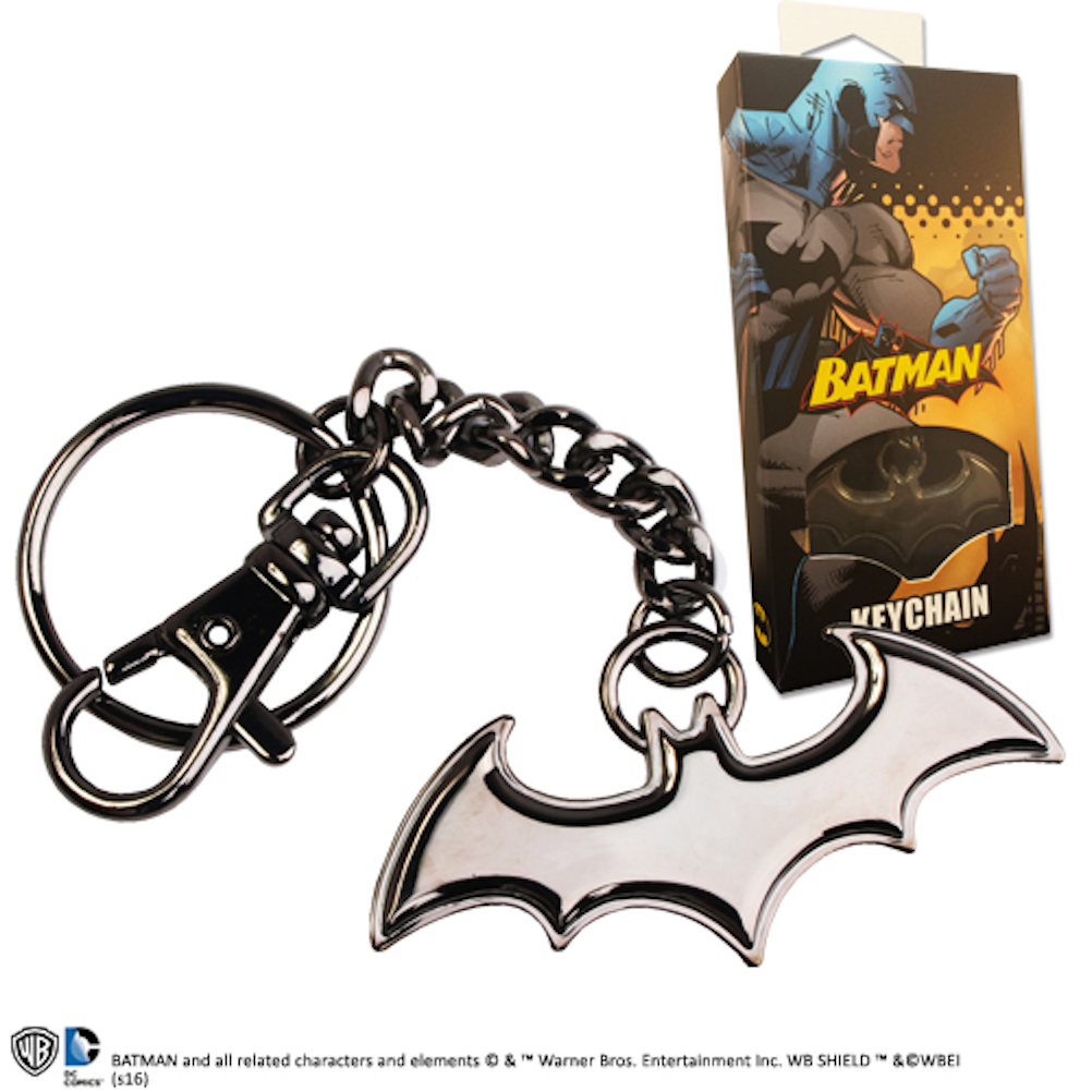 Batman 5.5cm Shaped Logo Keychain Black (9)